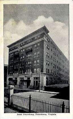 Hotel Petersburg - Virginia VA Postcard