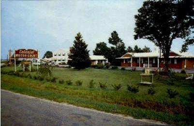 Colonial Motor Court - Portsmouth, Virginia VA Postcard