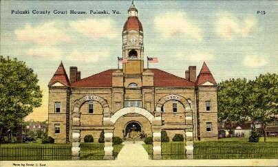 Pulaski County Court House - Virginia VA Postcard