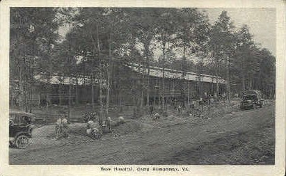 Base Hospital - Camp Humphreys, Virginia VA Postcard