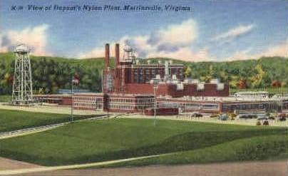 Duponts Nylon Plant - Martinsville, Virginia VA Postcard