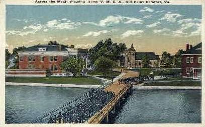 Army Y.M.C.A. - Point Comfort, Virginia VA Postcard