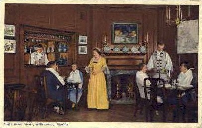 Kings Arms Tavern - Williamsburg, Virginia VA Postcard