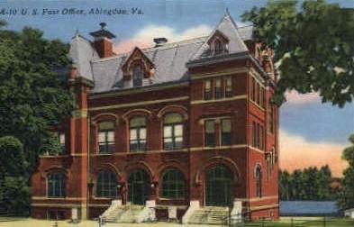 Post Office - Abingdon, Virginia VA Postcard