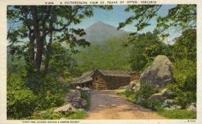 Peaks of Otter - Misc, Virginia VA Postcard