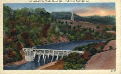 Municipal Power Plant  - Radford, Virginia VA Postcard