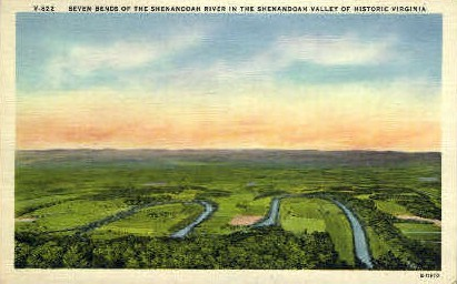 Seven Bends of the Shenandoah Valley - Misc, Virginia VA Postcard