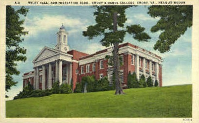 Wiley Hall - Emory, Virginia VA Postcard