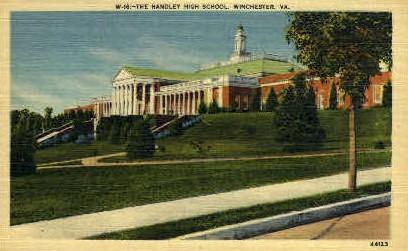 The Handley High School - Winchester, Virginia VA Postcard