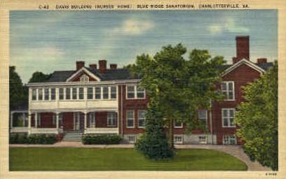 Davis Bldg. - Charlottesville, Virginia VA Postcard