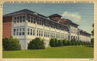 George W. Wright Memorial Pavillion - Charlottesville, Virginia VA Postcard
