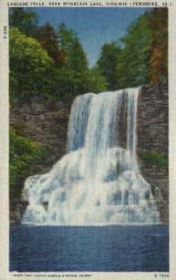 Cascade Falls - Pembroke, Virginia VA Postcard
