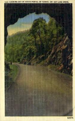 South Portal of Tunnel - Misc, Virginia VA Postcard