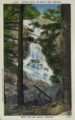 Upper Falls in White Oak Canyon - Misc, Virginia VA Postcard