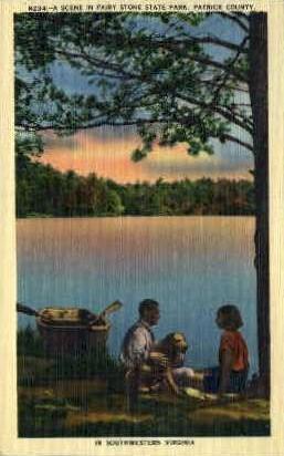 Fairy Stone State Park - Misc, Virginia VA Postcard