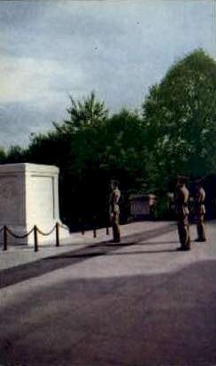 The Tomb of the Unknown Soldier - Arlington, Virginia VA Postcard