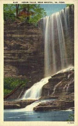 Abram Falls - Bristol, Virginia VA Postcard