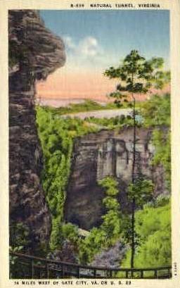 Natural Tunnel - Misc, Virginia VA Postcard