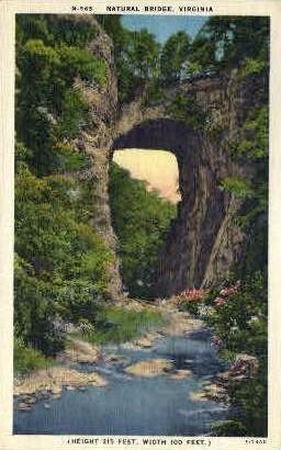 Natural Bridge - Misc, Virginia VA Postcard