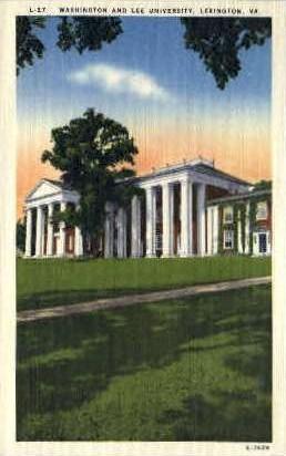 Washington and Lee Univ. - Lexington, Virginia VA Postcard