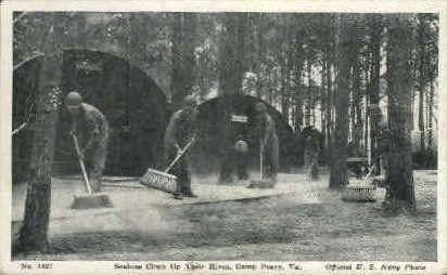 Seabees Clean their Hives - Camp Peary, Virginia VA Postcard