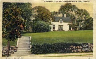 Stonewall Jackson's Headquarters - Winchester, Virginia VA Postcard
