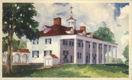 East Front Mansion - Misc, Virginia VA Postcard