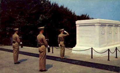Tomb of the Unknown   - Arlington, Virginia VA Postcard