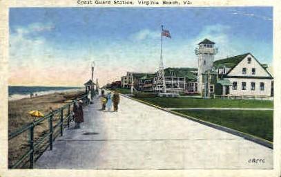 Coast Guard Station - Virginia Beach Postcards, Virginia VA Postcard