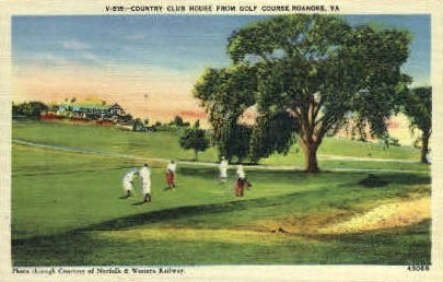 Country Club House - Roanoke, Virginia VA Postcard