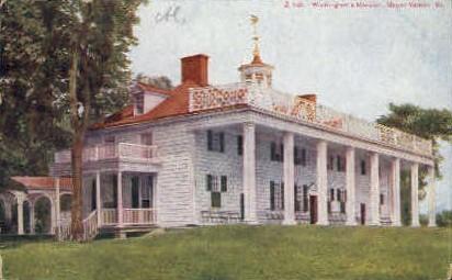 Washingtons Mansion - Mt Vernon, Virginia VA Postcard