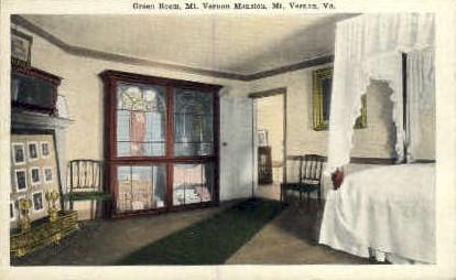 Green Room - Mt Vernon, Virginia VA Postcard