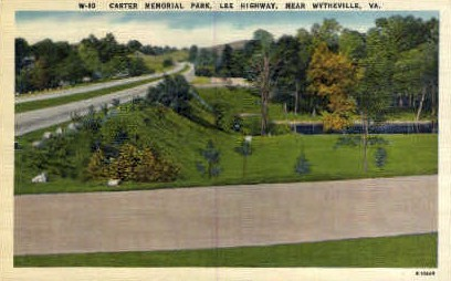 Carter Memorial Park - Wytheville, Virginia VA Postcard
