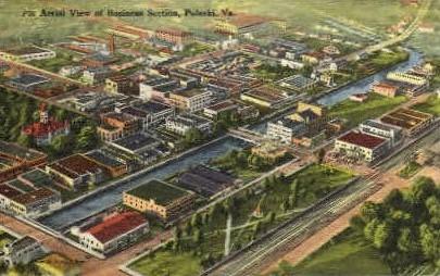 Buisiness Section - Pulaski, Virginia VA Postcard