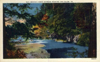 Masons Creek  - Roanoke, Virginia VA Postcard