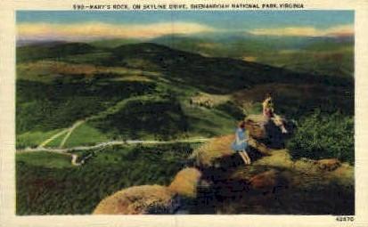 Marys Rock - Misc, Virginia VA Postcard