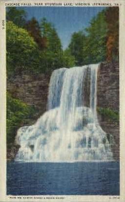 Cascade Falls - Mt Lake, Virginia VA Postcard