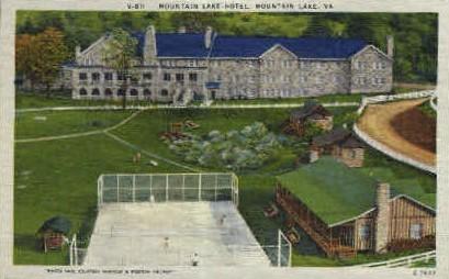 Mountain Lake Hotel - Mt Lake, Virginia VA Postcard