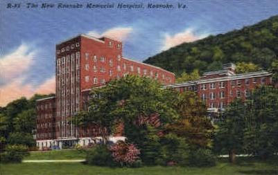 Roanoke Memorial Hospital - Virginia VA Postcard