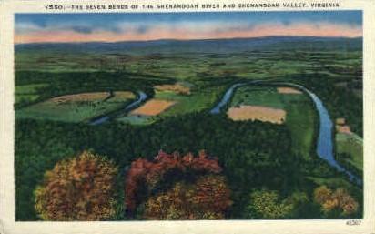 Shenandoah River - Misc, Virginia VA Postcard