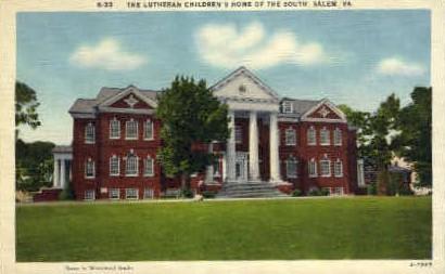 Lutheran Childrens Home of the South - Salem, Virginia VA Postcard