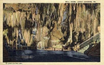 Ball Room - Caverns, Virginia VA Postcard