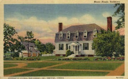Moore House - Yorktown, Virginia VA Postcard