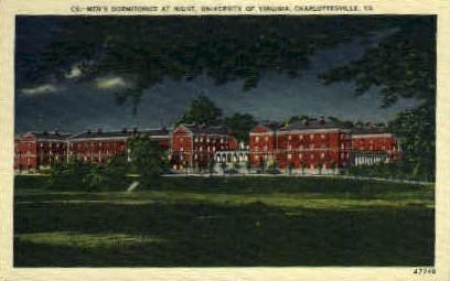 Mens Dorm., University of Virginia - Charlottesville Postcard