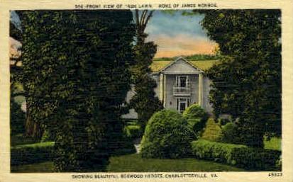 Home of James Monroe - Charlottesville, Virginia VA Postcard