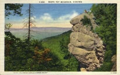 White Top Mt. - Misc, Virginia VA Postcard