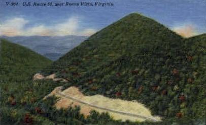 U.S. Route 60 - Buena Vista, Virginia VA Postcard
