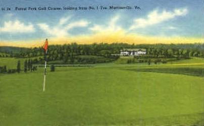 Forest Park Golf Course - Martinsville, Virginia VA Postcard