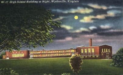 High School - Wytheville, Virginia VA Postcard