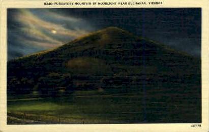 Purgatory mt. - Buchanan, Virginia VA Postcard
